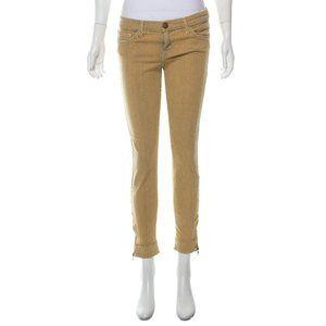 Current Elliott Sunny Striped Crop Skinny Jeans 27